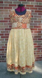 Tribal Yellow Cotton Dress