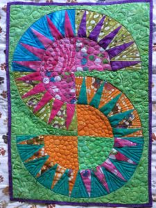 Finished New York Beauty Quilted Placemat