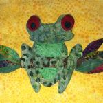 Frog Appliqué Sewed On