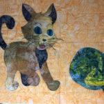 Cat Appliqué Sewed On