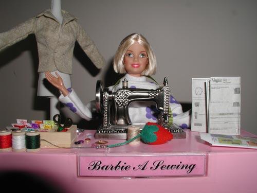 Barbie-A-Sewing