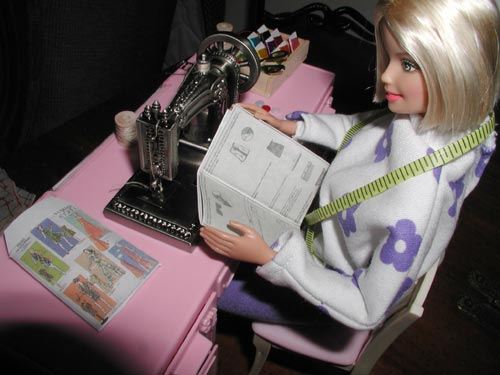 Barbie Reading Sewing Pattern