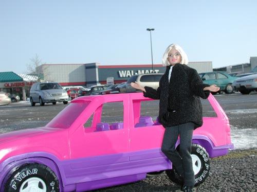 Barbie Outside Walmart