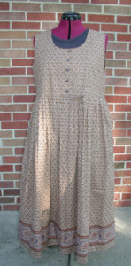 Sewing a Brown Cotton Dress