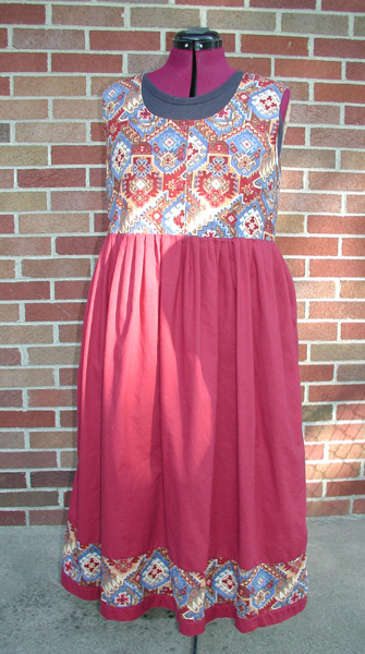 Indian Red Cotton Dress