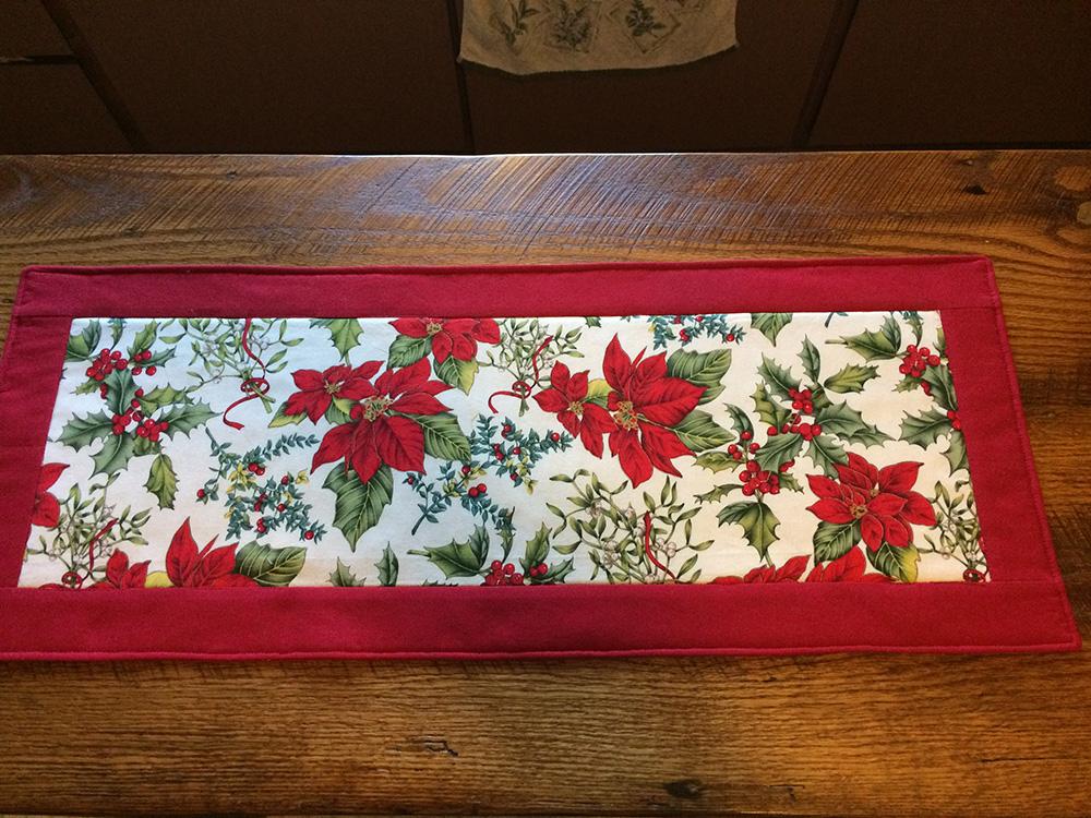 Holiday Table Runner Christmas Side